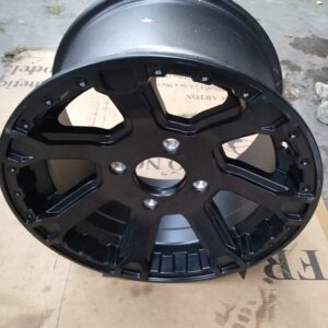 NEW MATTE BLACK REAR RIMS WILDCAT 1000 (PAIR)